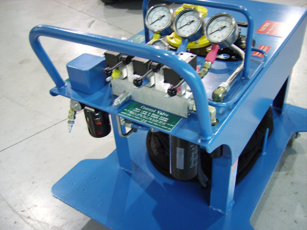 AIR DRIVEN HYDRAULIC UNIT TO OPERATE PULVERIZER  SERVICE EQUIPMENT