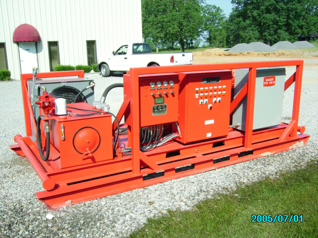 LARGE UNDERGROUND HYDRAULIC UNIT COMPLETELY REFURBISHED.