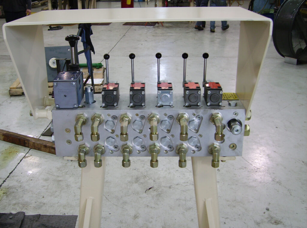 CONTROL VALVE STAND FOR UNDERGROUND MINE APPLICATION.