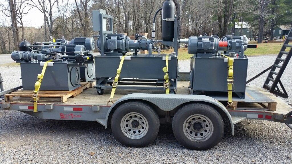 SMALL LOAD OF COMPLETED HYDRAULIC UNITS