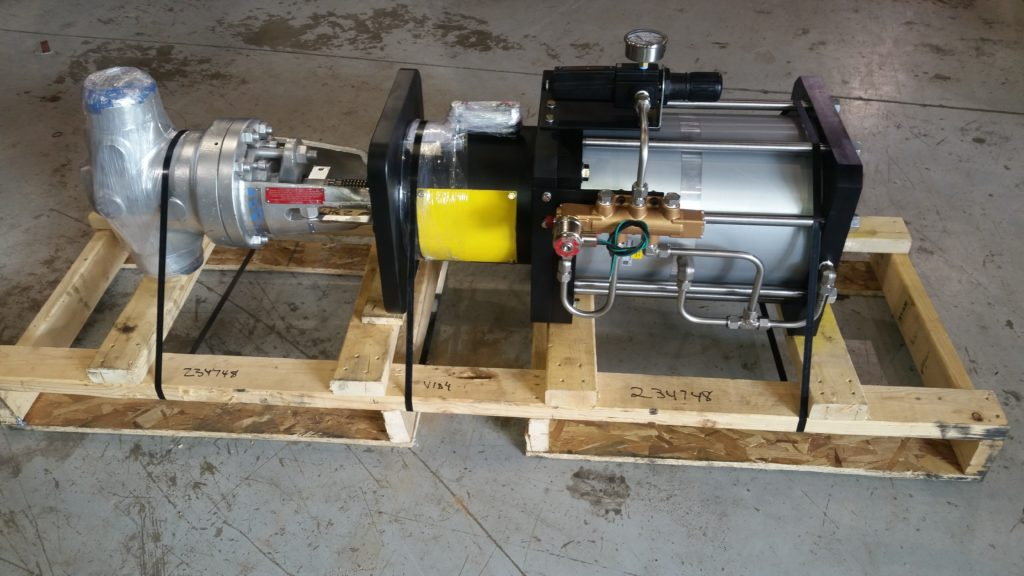 Fabricated custom mounting with actuator to operate the steam valve.